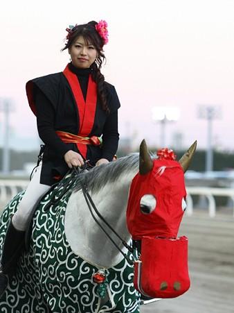 川崎競馬の誘導馬01月開催 獅子舞 鉄火巻Ver-120107-09