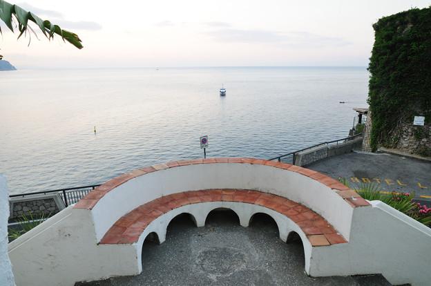 ルナコンベントホテルのテラスと海