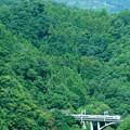 中央線四方津の大呼戸橋梁を渡るE351系スーパーあずさ号
