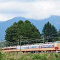 Photos: 八ヶ岳をバックに松本へ向かう189系臨時特急あずさ号