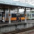 写真: 磐越西線228D・会津若松到着