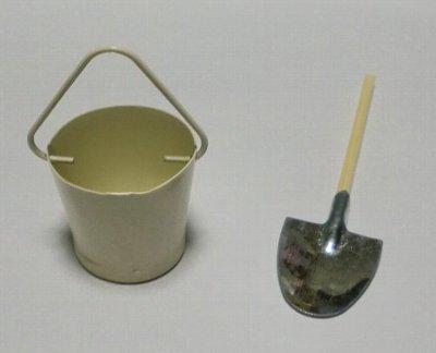 ミニチュア雑貨 スコップ&バケツ