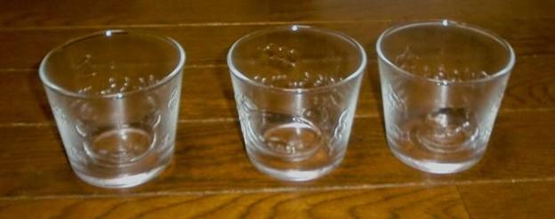 ジョーシン リラックマ 涼やかぷっくりガラスカップ 3個セット