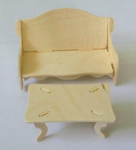 ウッドクラフト ソファーとテーブル