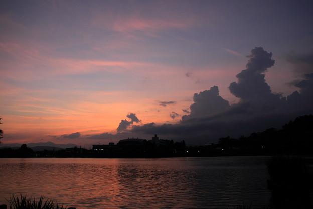 高松池夕景