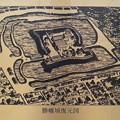 Photos: 勝幡城址のポケットパークそば、日光川に架かる橋に描かれた銅板にも...