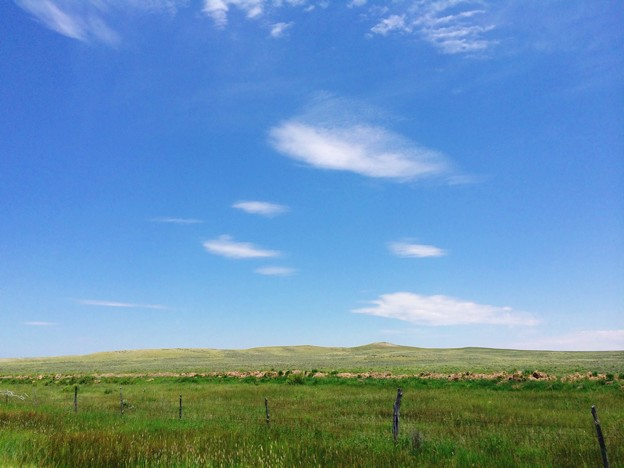 It's nothing ... but wide open space and blue sky..