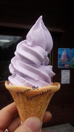 ラベンダーソフトクリーム(スマホにて撮影)