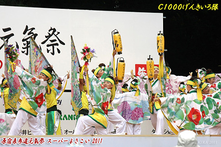 C1000げんきいろ隊_26 - 原宿表参道元氣祭 スーパーよさこい 2011