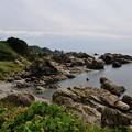 写真: 国道101号線の海岸