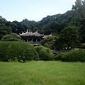 Photos: 日本庭園から旧御涼亭を臨む