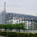写真: 建設が進む、県営名古屋空港前の三菱の工場 - 2