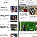 写真: iOS 9 Betaの「News」アプリとOpera Miniの「ディスカバー」を比較 - 1