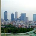 写真: 名古屋城天守閣:最上階から見た名駅ビル群 - 1