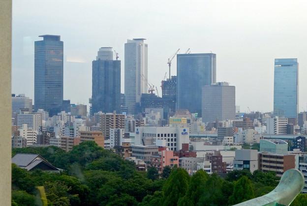 名古屋城天守閣:最上階から見た名駅ビル群 - 2