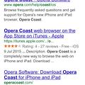 写真: Opera Coast(4.40)だとなぜか古い(?)Googleページが表示される - 1