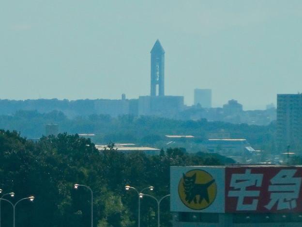 写真: リニモから見えた東山スカイタワー - 2