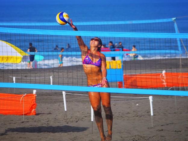 今日から開催。ビーチバレージャパン@湘南・鵠沼海岸 #Beach Volley #ビーチバレー #湘南 #藤沢 #海 #波 #surfing #wave #mysky #beach