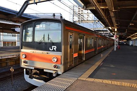 205系[M36編成]@東松戸駅[12/28]