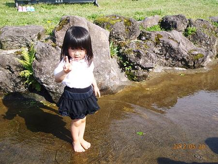 水遊び^^