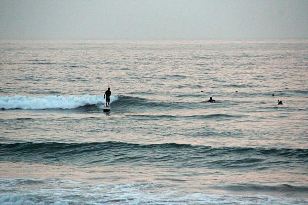 夕暮れサーフィン (3)