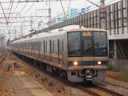 207系快速 東海道本線塚本駅