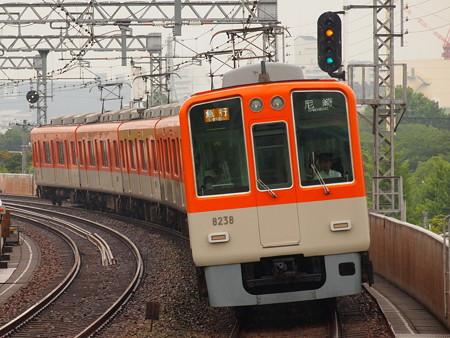 阪神8000系急行 阪神本線大物駅02