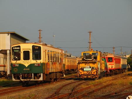 ひたちなか海浜鉄道キハ3710形 湊線高田の鉄橋~那珂湊