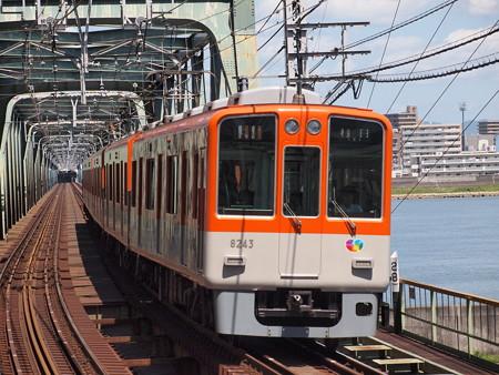 阪神8000系急行    阪神本線淀川駅01