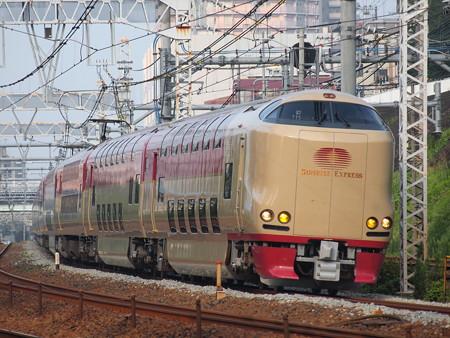 285系サンライズエクスプレス 東海道本線新子安~鶴見