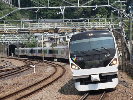 E257系特急あずさ 中央本線相模湖駅