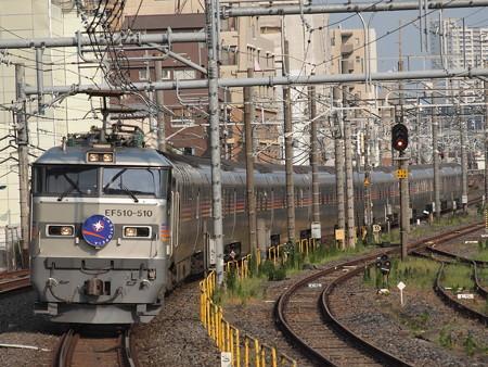 EF510 寝台特急カシオペア 東北本線尾久駅