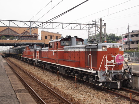 DD51 寝台特急トワイライト エクスプレス山陽本線中庄駅01