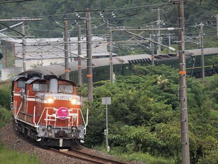 DD51 寝台特急トワイライトエクスプレス 伯備線総社~豪渓03