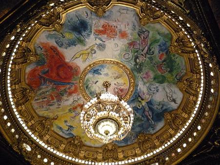 オペラ座(ガルニエ)天井(シャガール)