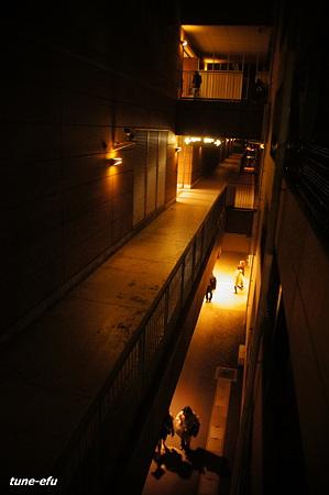 連絡通路の夜