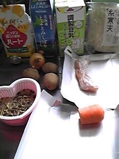 2012年4月7日のお昼の食材
