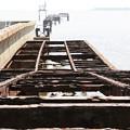 写真: 朽ち桟橋