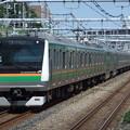 Photos: 東海道線E233系3000番台 E-03編成他15両編成