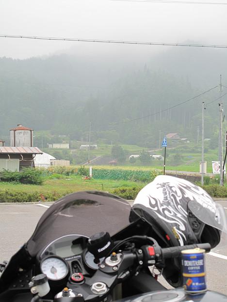 写真: IMG_9525 霧の中、水分補給