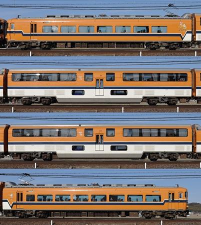 近鉄30000系30208F(V08)海側側面 2011.02.19