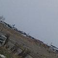 Photos: 車もまだまだ山積み…。 お父さんの車は まだ見つからないわ↓ (門脇方面から  …確か 雲雀野海岸方面だったかな…。 南浜だな。)
