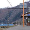 廃止後の若穂駅