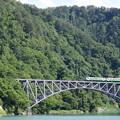 初夏の第一只見川橋梁