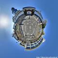 駿府城東御門前 パノラマ Little planet