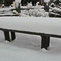 Photos: 15.長椅子に降り積もった雪