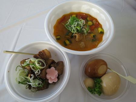 上越オクトーバー・フェスト2015 はな禅 チャーシュー、モツ煮、味玉セット