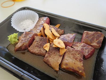 肉フェスNIIGATA2015夏 新潟東映ホテル ステーキハウスあづま「雪室熟成新潟県産牛ステーキ」(M-8)¥1400