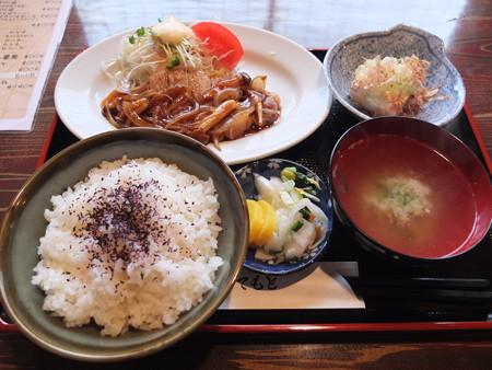 焼き鳥 山里 鴨島店 本日のランチ(豚ロース生姜焼)¥500
