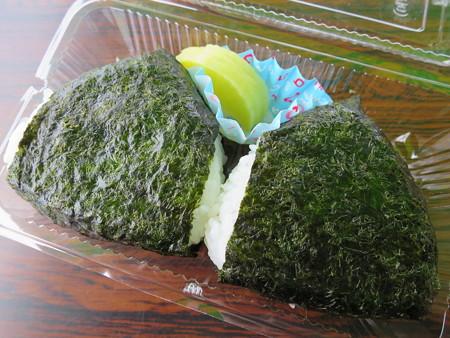 名立大鍋まつり2015 おにぎり¥200
